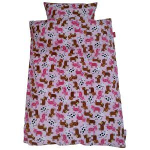 Junior sengetøj - Lyserød ko