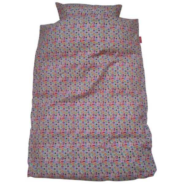Junior sengetøj – Miniugler / pink