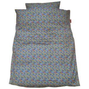 Junior sengetøj - Miniugler / blå