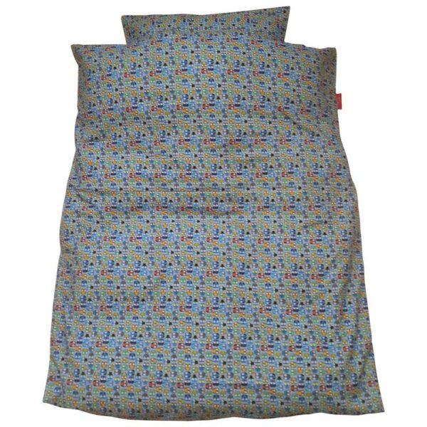 Junior sengetøj – Miniugler / blå