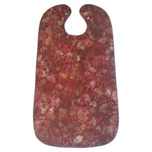 Spisestykke - Rød-brun m. mønster - batik