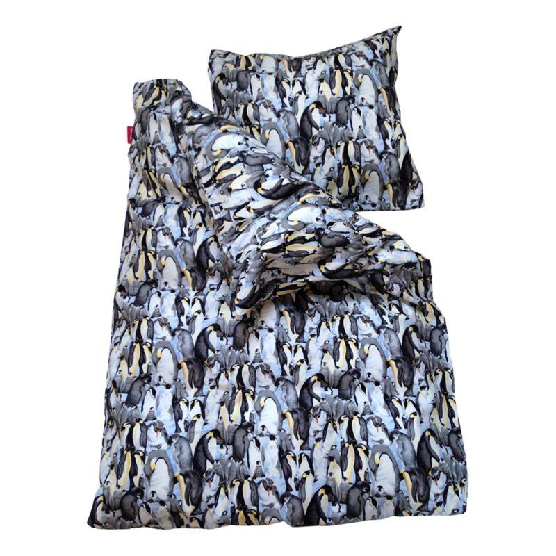 b0916ea28dd Junior sengetøj - Pingviner - Sort | ZOO-Design