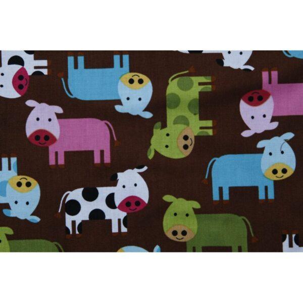 Baby sengetøj - Brun med køer
