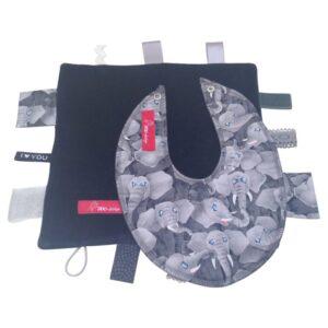 Sanseklud & Savlesmæk - Små elefanter - sort