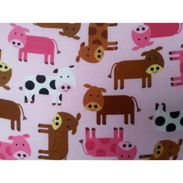 Baby sengetøj - Lyserød med køer