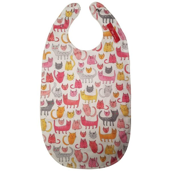 Bib for eating - Cats white/pink / white