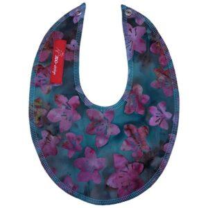 Savlesmæk - Turkis med pink blomster (batik)