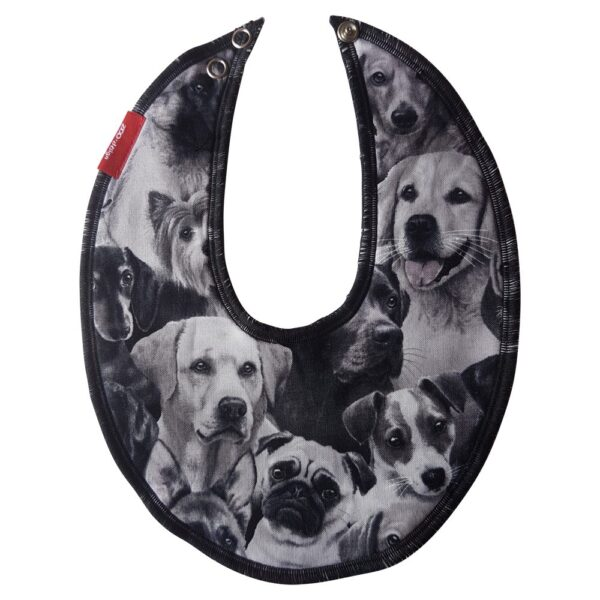 ZOO-design – Bib for drool – Dogs Black _ white