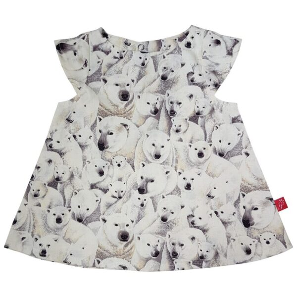 Kjole – isbjørne – hvid