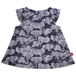 Kjole - Elefanter - Grå
