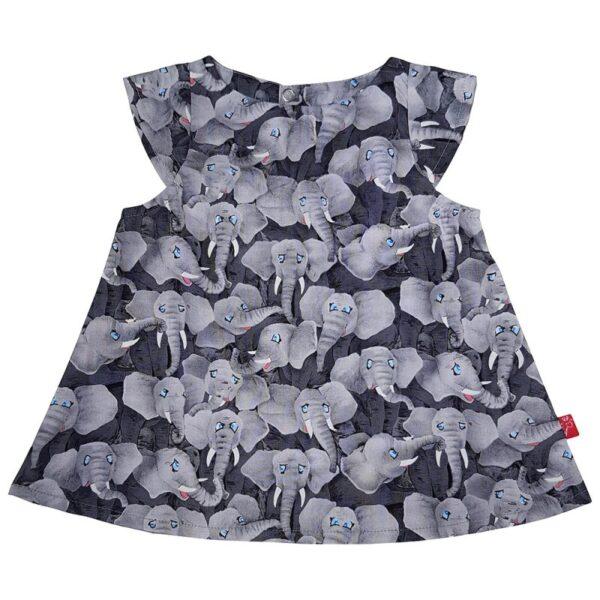 Kjole – Elefanter – Grå