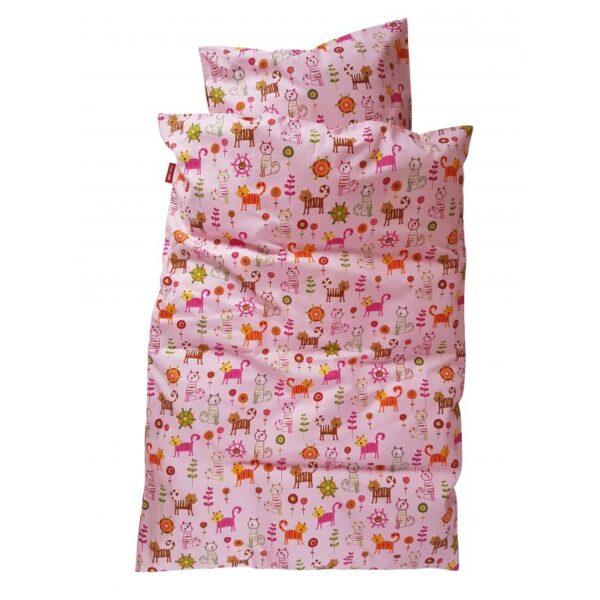 Baby sengetøj - Katte - Pink