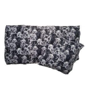 Junior sengetøj - Hunde - Sort