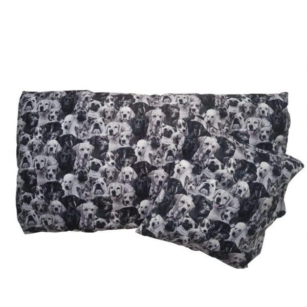 Junior  sengetøj – Hunde – Sort